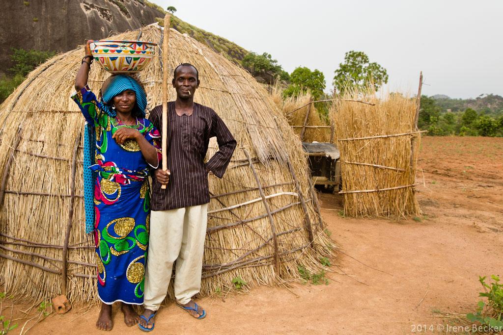 A portrait from a Fulani marriage ceremony. Kajuru, North-western Nigeria.