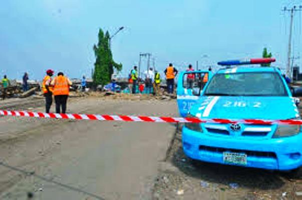 FILE PHOTO: FRSC personnel cordoned off a scene of accident