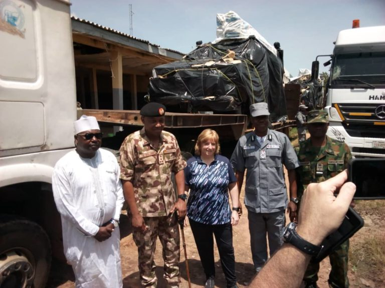Nigerian Customs hands over 6 mine-resistant military vehicles to US govt