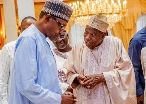 President Muhammadu Buhari with Gov. Abdullahi Ganduje