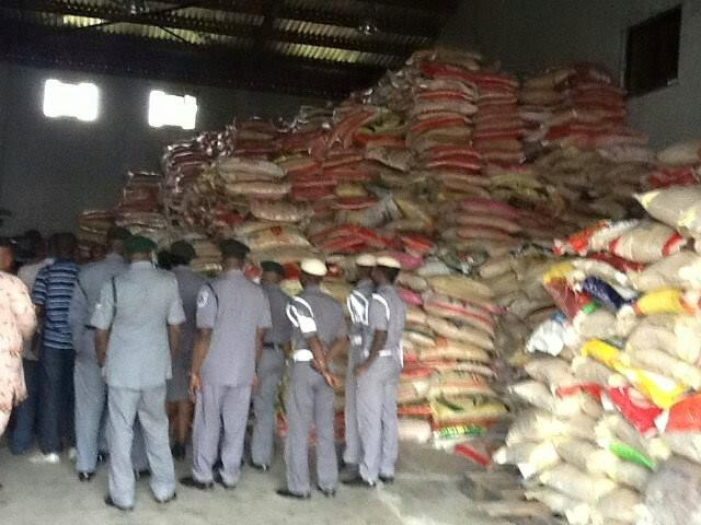 Nigerian Customs uncovers foreign rice re-bagging warehouse, arrests 15 suspects