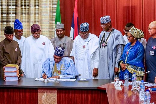 BREAKING: Buhari signs Finance Bill into law