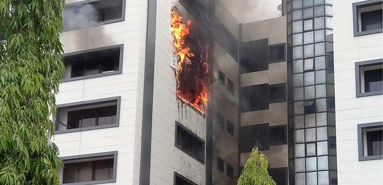 Fire guts Accountant-General's Office