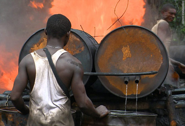 Illegal refinaries in Niger Delta