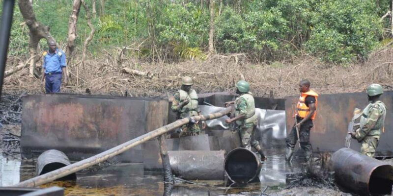 Troops deactivate 27 illegal refining sites in Niger Delta – DHQ