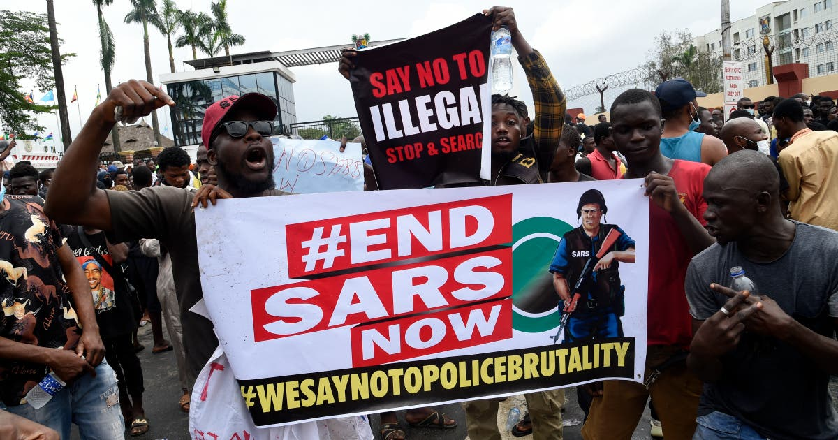 End SARS protesters