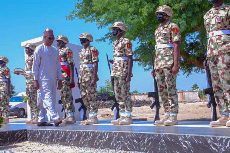 Boko Haram: Zulum commissions 400 Civilian JTF absorbed into Nigerian Army