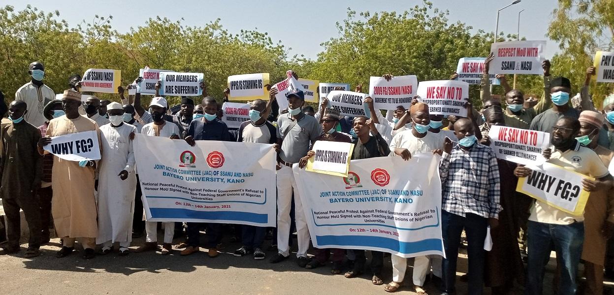 BUK SSANU and NASU protest