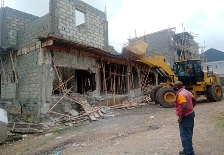 FCTA demolishes illegal structures in Abuja